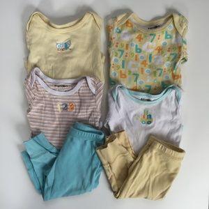 6 Piece Unisex Bodysuits & Pants Bundle